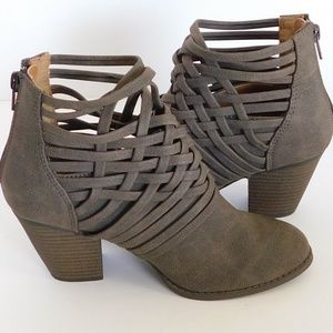 """Jelly Pop """"Sasha"""" Brown Ankle Bootie"""
